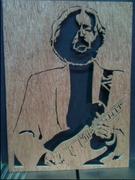 scroll saw portrait of Eric Clapton