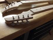 Double Neck Wine Box Guitar Headstocks