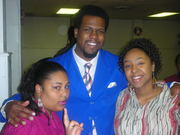 Pastor and 2 young ladies @ da church