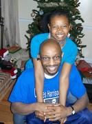 Faith & Dad in Atlanta on Christmas 2008