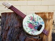 Aussie Native plant biscuit tin ukulele
