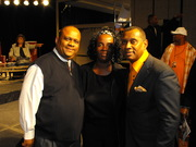 Pastor Brian & Monica Lewis with Melvin Williams