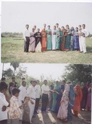 Pastor Jacob Vadlapati while distributing Bibles to the Baptised believers