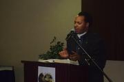 Dr.Blue preaching