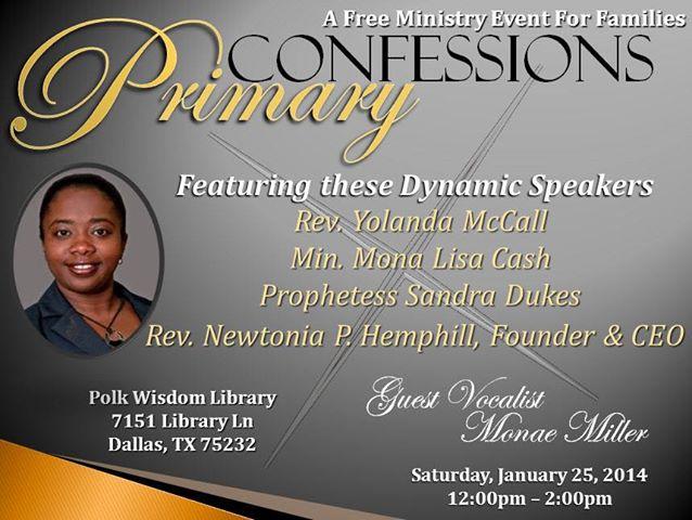 Primary Confessions  Newtonia Hemphill Flyer