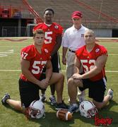 solich with husker football captains