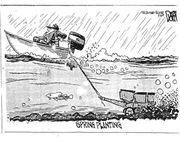 Creative cartoon on the wet weather for many farmers!