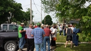 Good crowd of farmers at London MPP Deb Matthews office for Rally