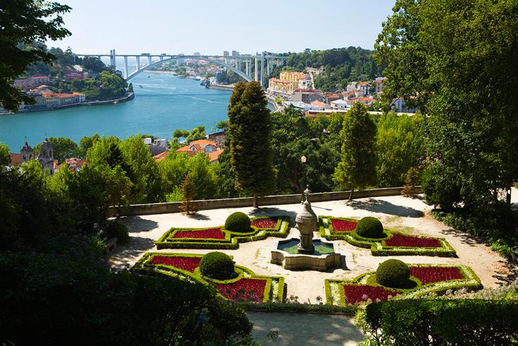 vista do miradouro dos jardins do palácio de cristal