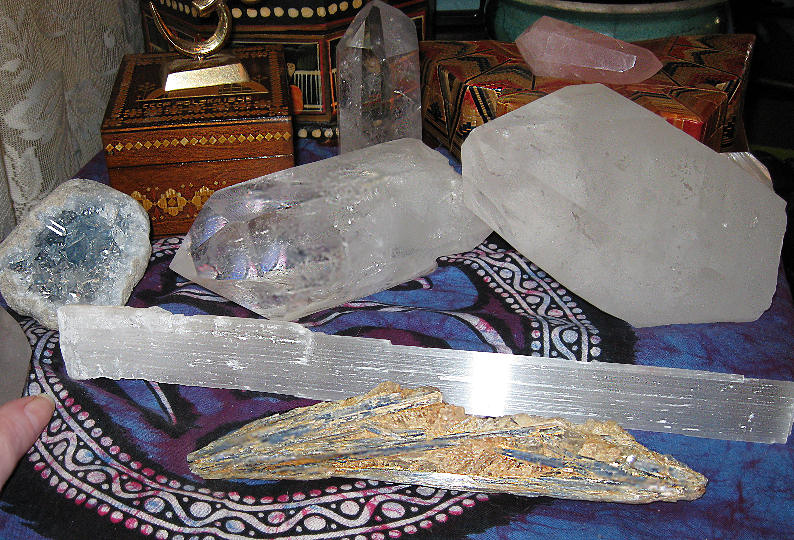 Pranayama Crystals - Closer view of part of the previous picture.
