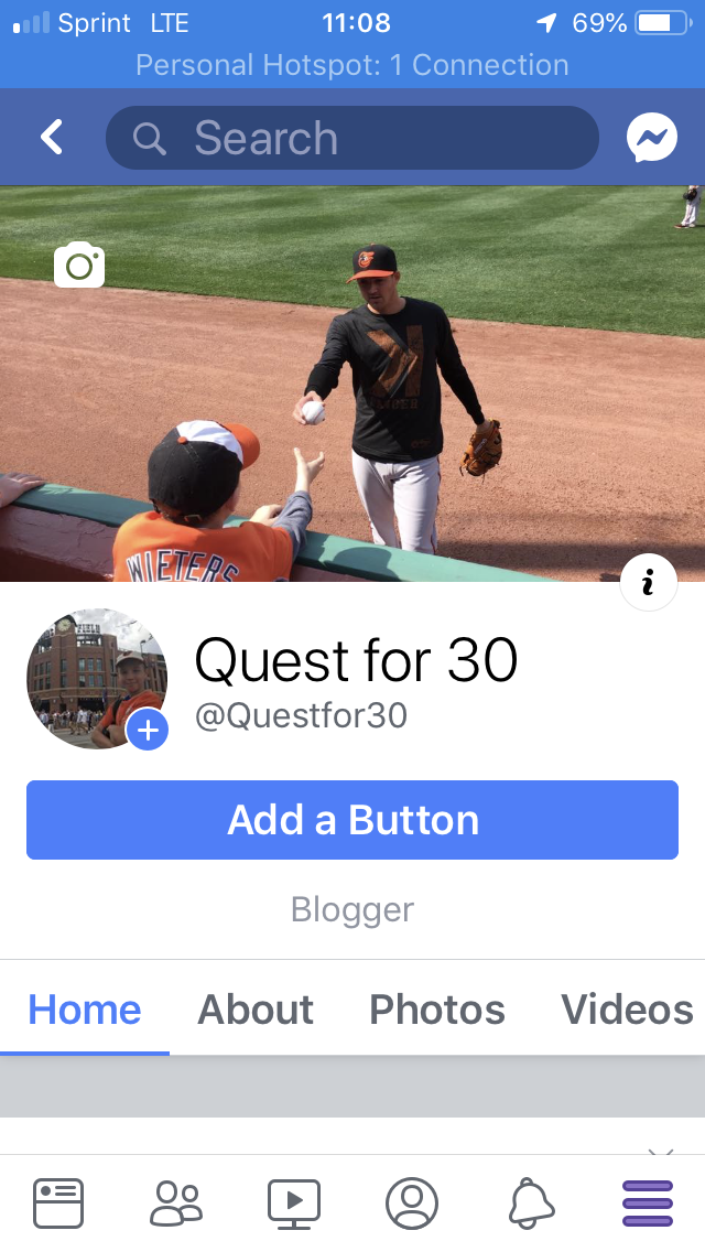 Facebook page Quest for 30