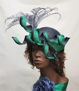 Navy and Green Crown hat