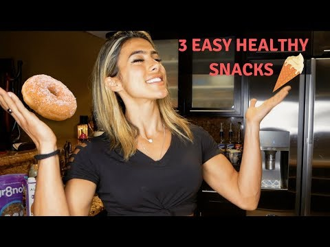 3 QUICK AND EASY HEALTHY SNACKS IN LESS THAN 10 MIN