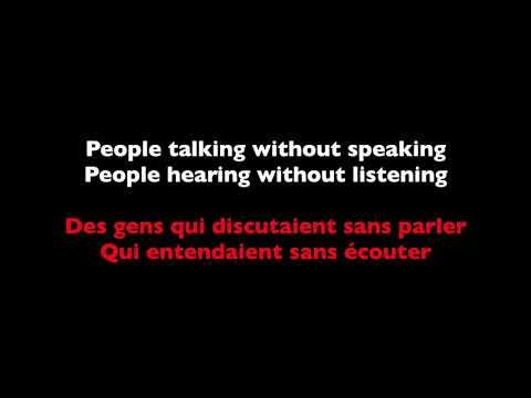 The Sound of Silence - Disturbed (Lyrics + French Translation)