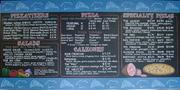 Harmon's Pizza Chalkboard Menu