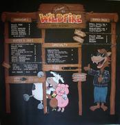 Wildfire BBQ Chalboard Menu Mural