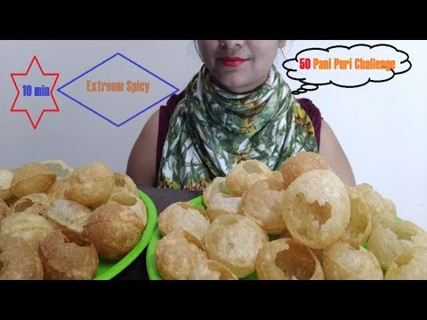 50 PANI PURI/GOLGUPPA EATING CHALLENGE/5 MIN