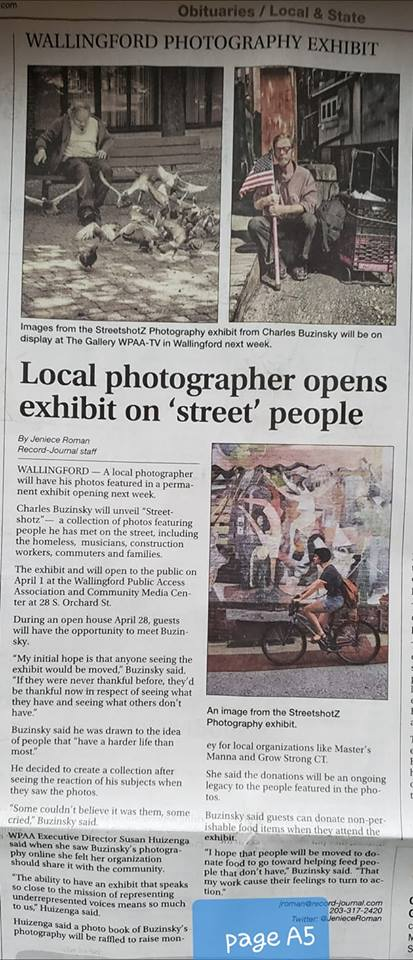 Social Action Art Exhibit gets local Press coverage
