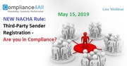 Third-Party Sender Registration - Are you in Compliance?