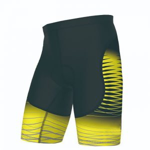 Black Yellow Custom Cycling Short