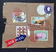 Faux package series postcard