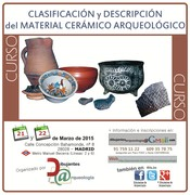CURSO Clasificación y Descripción del Material Cerámico Arqueológico