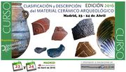 Cursos de Arqueología: Cerámica Arqueológica.