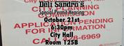 Deli Sandro's Special Permit Hearing
