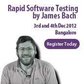 Rapid Software Testing - James Bach @ Bangalore 3rd and 4th December 2012