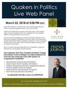 Quakers in Politics Live Web Panel