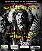 Talking, Sharing and Healing Workshop Facilitated by Chief Phil Lane Jr.