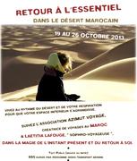 Retour à l'essentiel dans le désert marocain, Voyage Sophrologie
