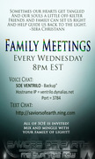 SOE Family Meetings (Every Wednesday! 8pm EST)