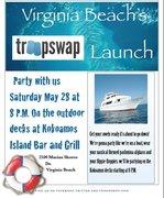 TroopSwap's Virginia Beach launch party this Saturday night at Kokoamos!