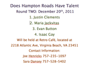 DOES HAMPTON ROADS HAVE TALENT?  ROUND TWO!