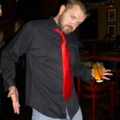 DAVE DERRING FROM ROCKSTAR PARKING AT OUR AFTER WORK PARTY