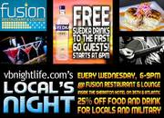 FREE DRINKS SPONSORED BY SVEDKA - VBNIGHTLIFE PARTY AT FUSION RESTAURANT AND LOUNGE!