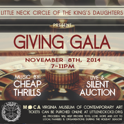 CHEAP THRILLS AT VIRGINIA MOCA - FOR THE GIVING GALA - PRESENTED BY THE LITTLE NECK CIRCLE OF THE KING'S DAUGHTERS