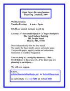 Open Figure Drawing Sessions Beginning Oct 6th