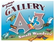 December at Gallery A3:  Greetings, a postcard show