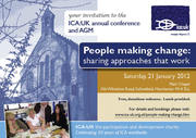 """Free conference """"People making change: sharing approaches that work"""""""