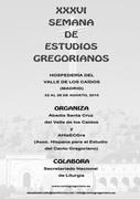 XXXVI Semana de Estudios Gregorianos