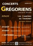 CONCERTS GRÉGORIENS