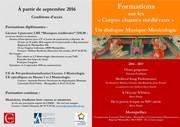 Corpus chantés médiévaux : une formation musique/musicologie en licence et master à Montpellier grâce au partenariat Université/CIMM/Conservatoire.