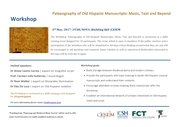 Workshop 'Palaeography of Old Hispanic Manuscripts: Music, Text and Beyond'