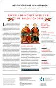 Année 2018-2019 de l'école de musique médiévale et de tradition orale de Madrid