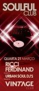 NOITE: Ricci Ferdinand & Urban Soul Djs