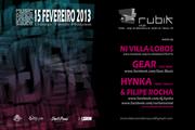 NOITE: Gear, Hynka & Filipe Rocha, Ni Villa Lobos