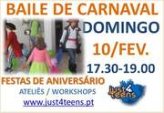 CRIANÇAS: Baile de Carnaval e Concurso de Máscaras
