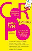 FESTIVAIS: Corpo Evento Ciclo de Espetáculos em Teatro e Dança